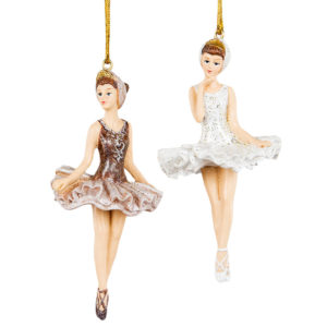 Ballerina på snöre hängdekoration