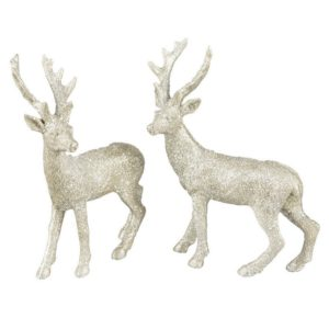 Hjort glitter dekoration