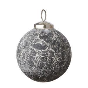Julgranskula i grått och vitt