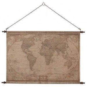 Världskarta i vintage stil