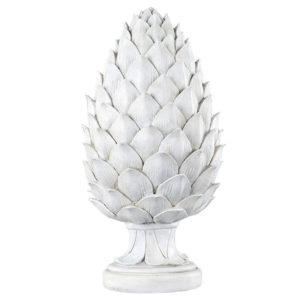 Ljusgrå kotte stående dekoration
