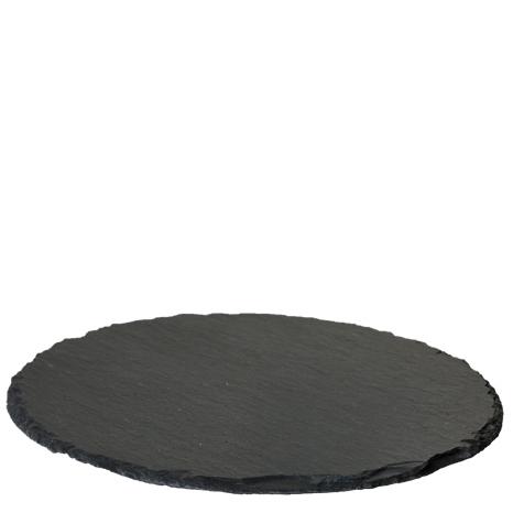 Ljusfat / underlägg i svart skiffer