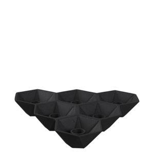 Ljusstake i svart metall med plats för sex ljus