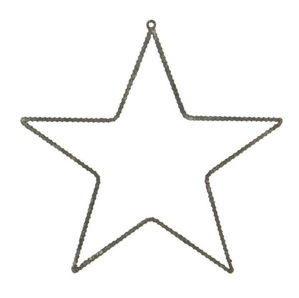 Metall stjärna grå stomme