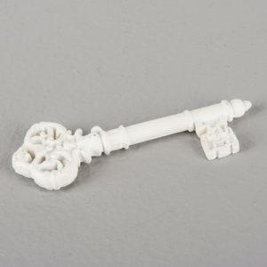 Vit nyckel till dekoration