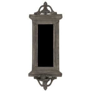Spegellampett i grå metall