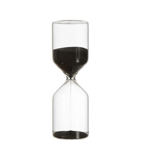Timglas med svart sand 15 minuter