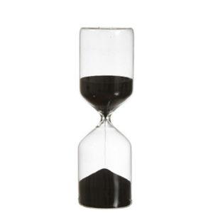 Timglas med svart sand 30 minuter