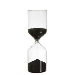 Timglas med svart sand 60 minuter