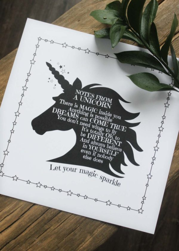 Majas Cottage Unicorn enhörning print