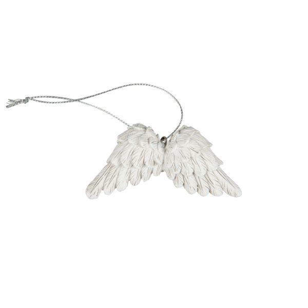 Vita änglavingar i snöre till dekoration