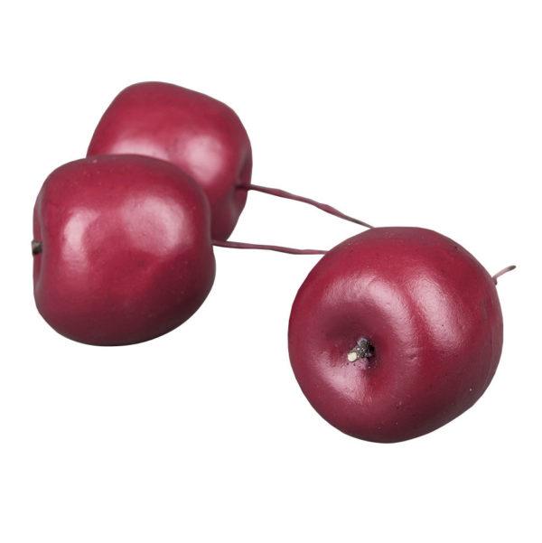 Äpple röd dekoration på pinne 4,5 cm