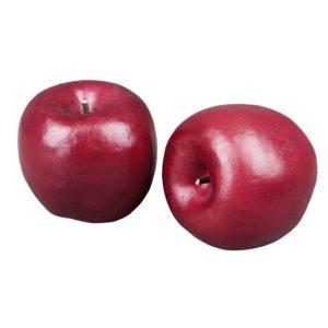 Äpple röd dekoration 7 cm