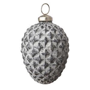 Julgranskula kotte i gråvit
