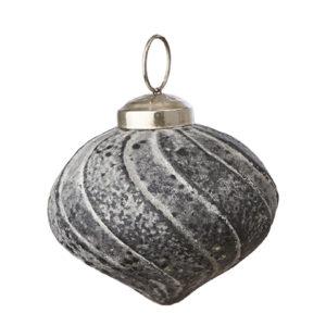 Julgranskula grå dekoration