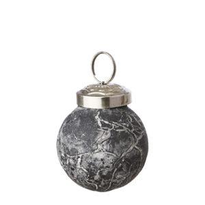 Julgranskula grå ornament liten
