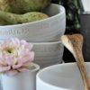 Majas Cottage kärlek & fika skål vit