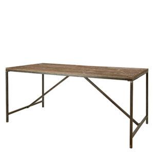 Matbord i industristil med träskiva