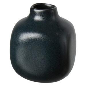 Minivas i svart matt stengods