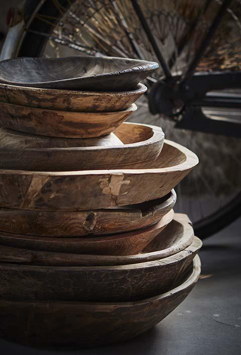 Unik vintage träskål