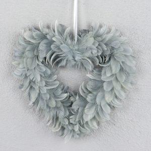 Fjäderhjärta grå