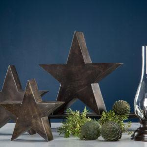 stjärna i brun metall