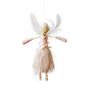 Fe med vingar i rosa dekoration