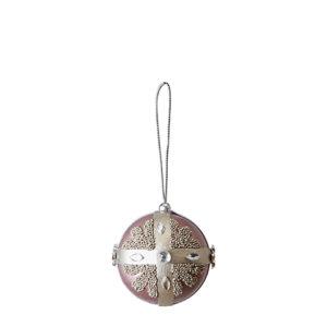 Rosa julgranskula med diamanter