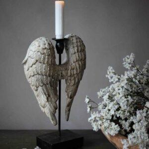 Majas Cottage Ljusstake med änglavingar