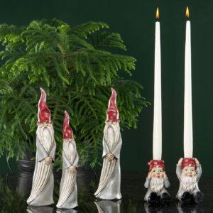Grå jultomte dekoration