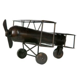 Flygplan i brun metall dekoration