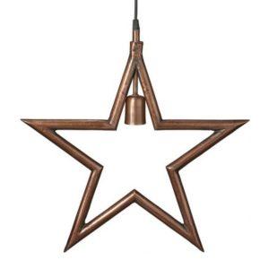 Hängande metall julstjärna industri råkoppar