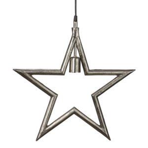 Hängande metall julstjärna industri råsilver