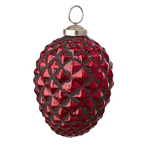 Röd julgranskula kotte
