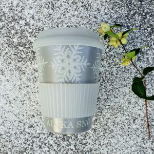 Kaffemugg to go takeaway älska snö