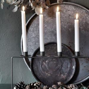 Ljusstake plantera i metall med fem ljus