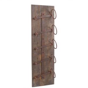 Rustikt vinställ i trä vintagestil att hänga på väggen