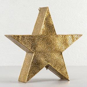 Metallstjärna ljuslykta i guld