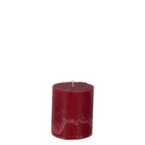 Rött blockljus 7,5 cm