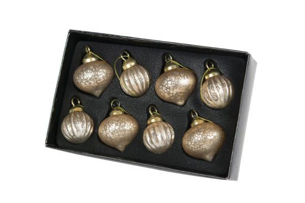 Julgranskulor guld 8-pack