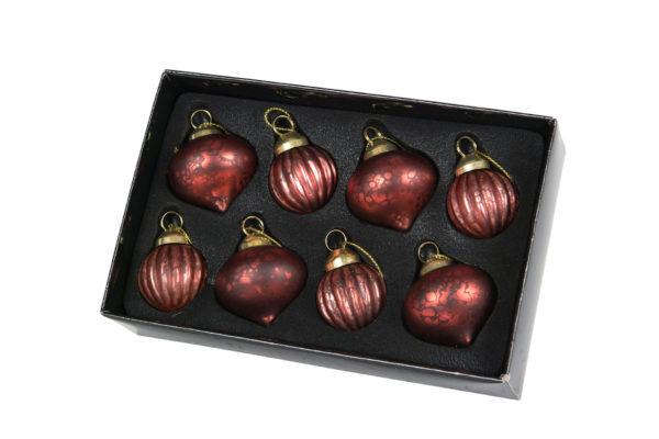 Julgranskulor röd 8-pack