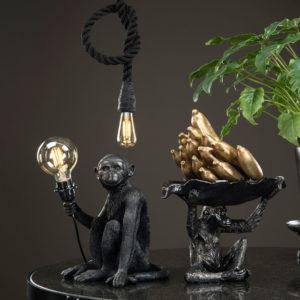 Lampfot i form av en apa