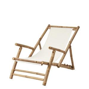 Strandstol i bambu och tyg