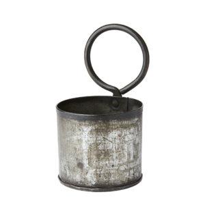 kruka vintage metall med ögla