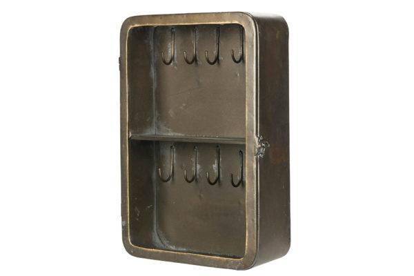 Nyckelskåp i metall industristil