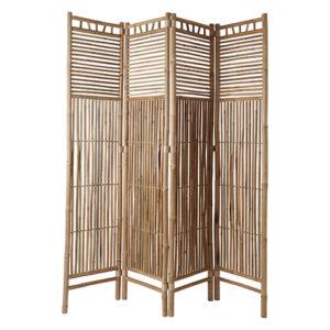 Rumsavdelare i bambu 4 delar med fri frakt