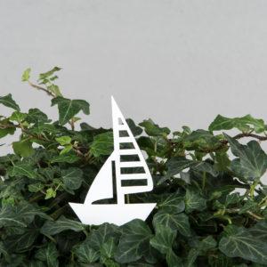 Segelbåt på stick dekoration