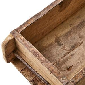 Trälåda vintage tegelstensform