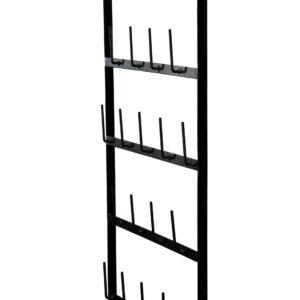 Kopphållare muggställ i svart metall för vägg