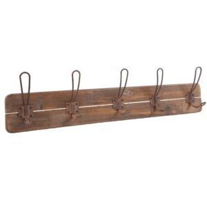 Kroklist hängare vintage trä med rostiga krokar